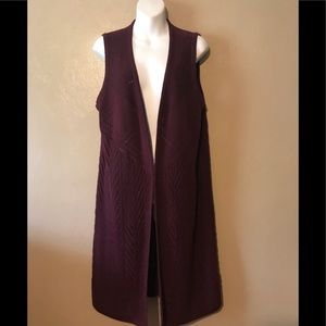 Christopher & Banks burgundy long  sweater L